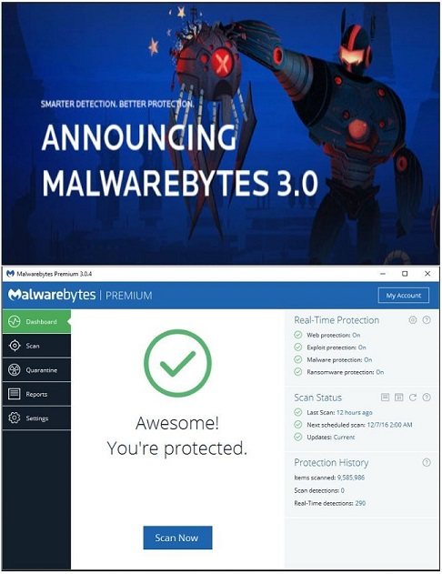 Malwarebytes Anti-Malware Anti-Exploit Anti-Ransomeware (License and  Download)
